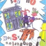 Entry to a noise action week poster competition for children