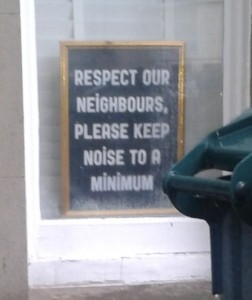 seen in a Brighton student rich neighbourhood