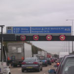 congested motorway traffic